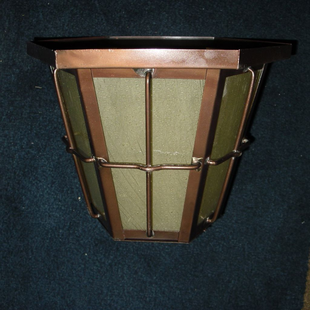 Image of: Flush Mounted Copper Porch Light