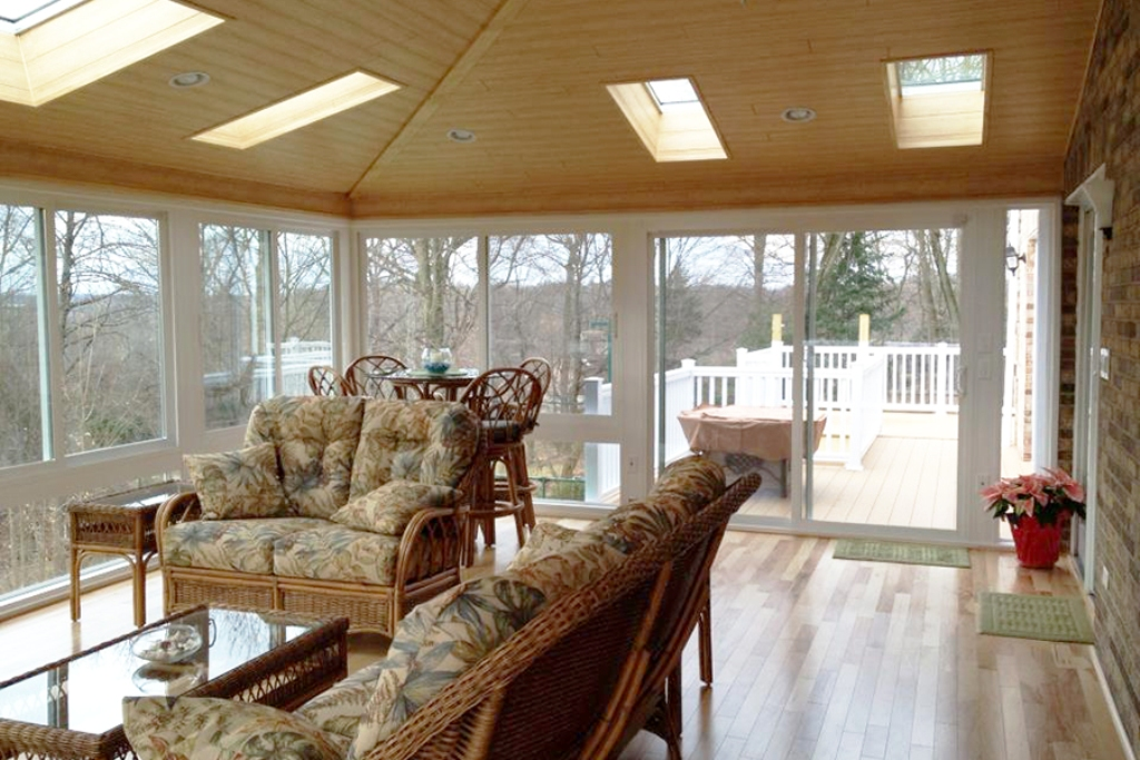 Image of: Four Season Porch Flooring