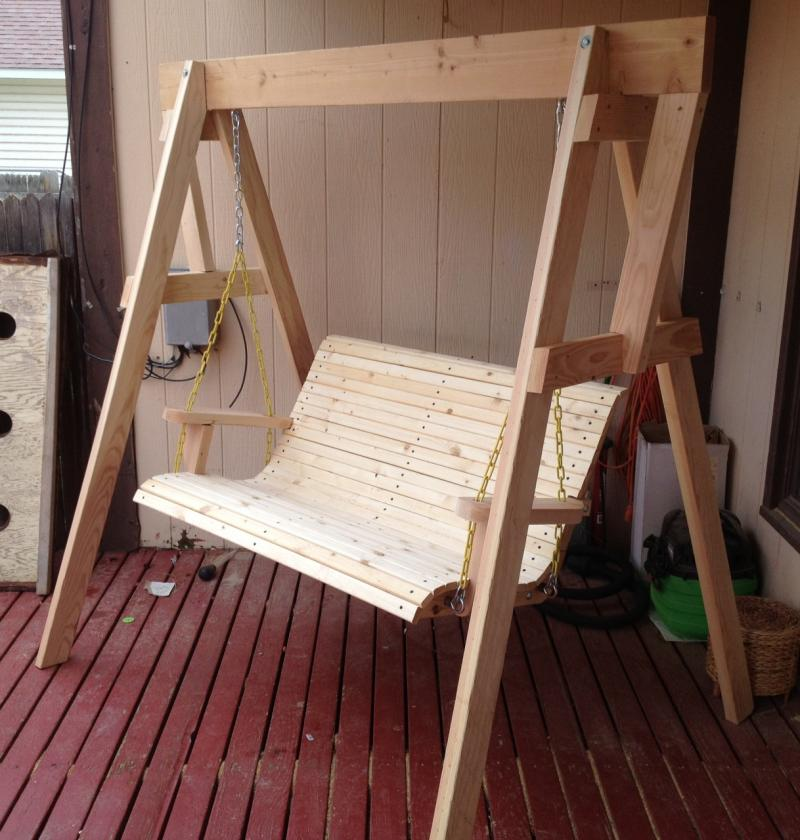 Image of: Free Standing Porch Swing Diy