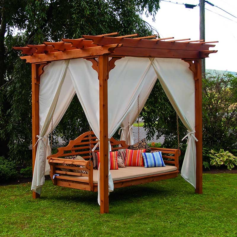 Image of: Free Standing Porch Swing Ideas