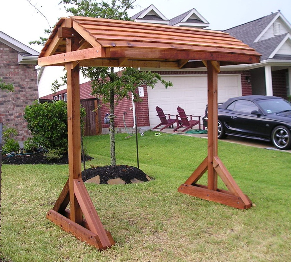 Image of: Free Standing Porch Swing Plans