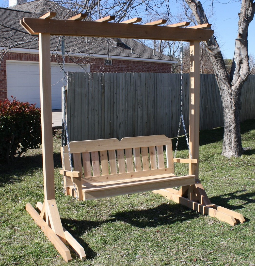 Image of: Free Standing Porch Swing Size
