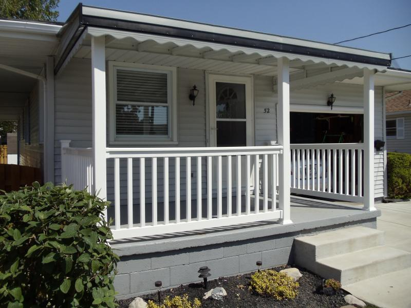 Image of: Front Aluminum Porch Awnings