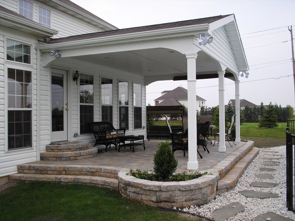 Image of: Front Back Porch Designs With Stone