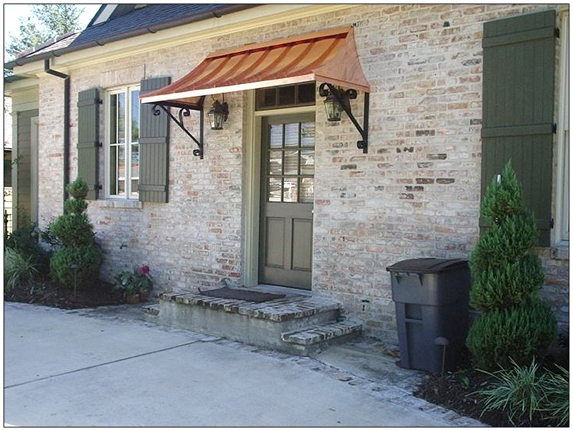 Image of: Front Porch Awning Door