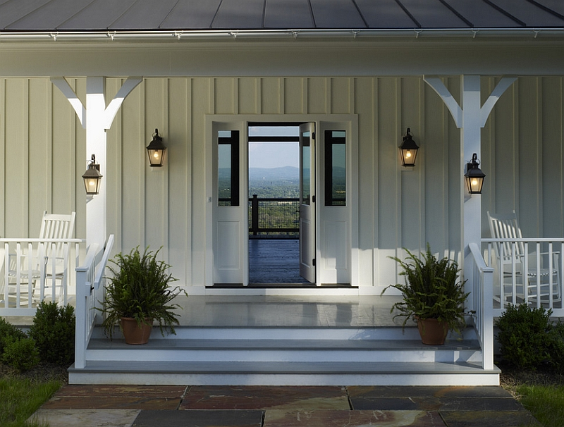 Image of: Front Porch Columns White