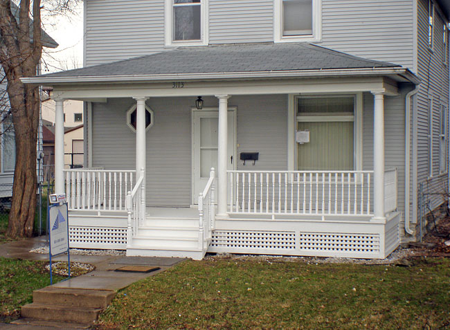 Image of: Front Porch Designs Clean