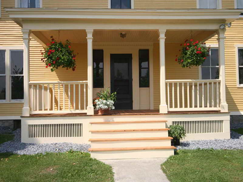 Image of: Front Porch Designs Luxury