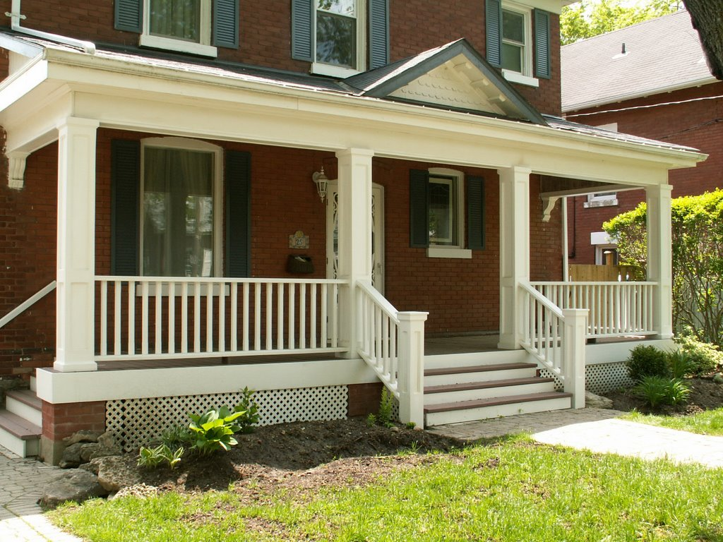 Image of: Front Porch Designs White