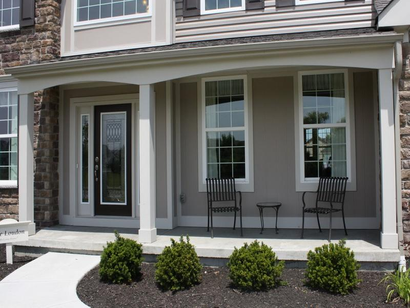 Front Porch Designs with Chair