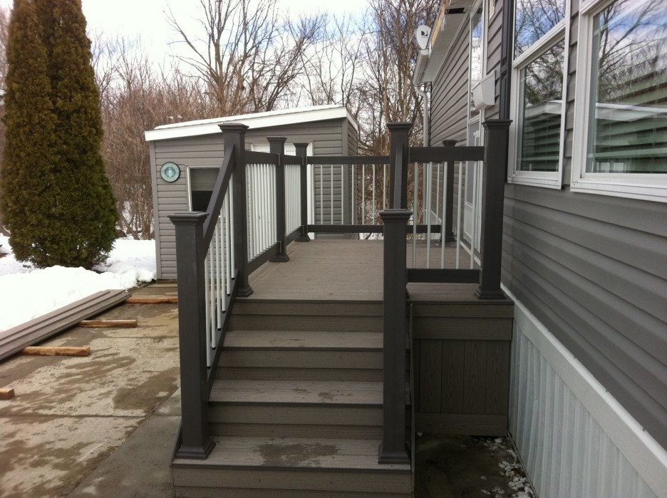 Image of: Front Porch Handrails Black