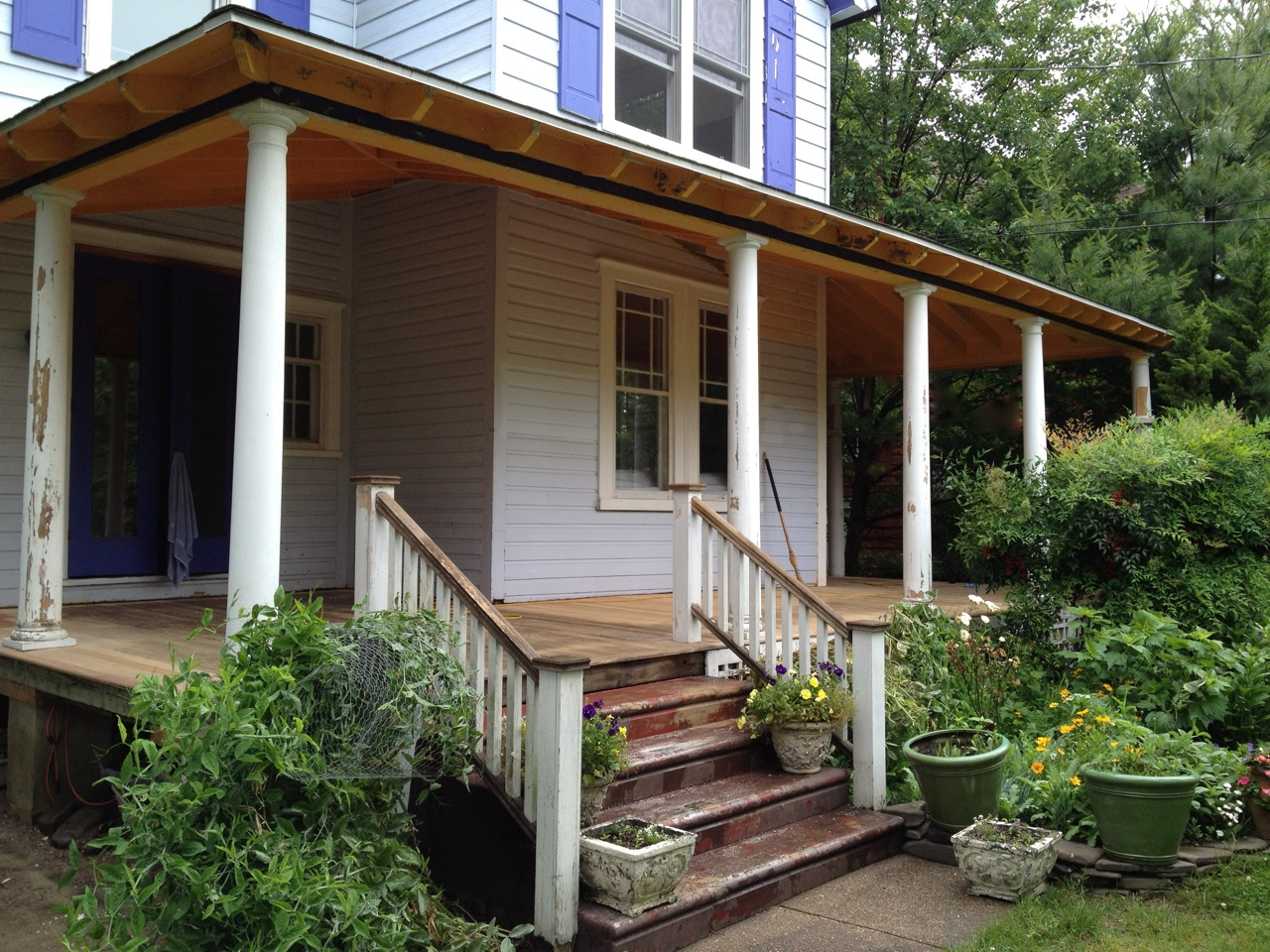 Image of: Front Porch Handrails Diy