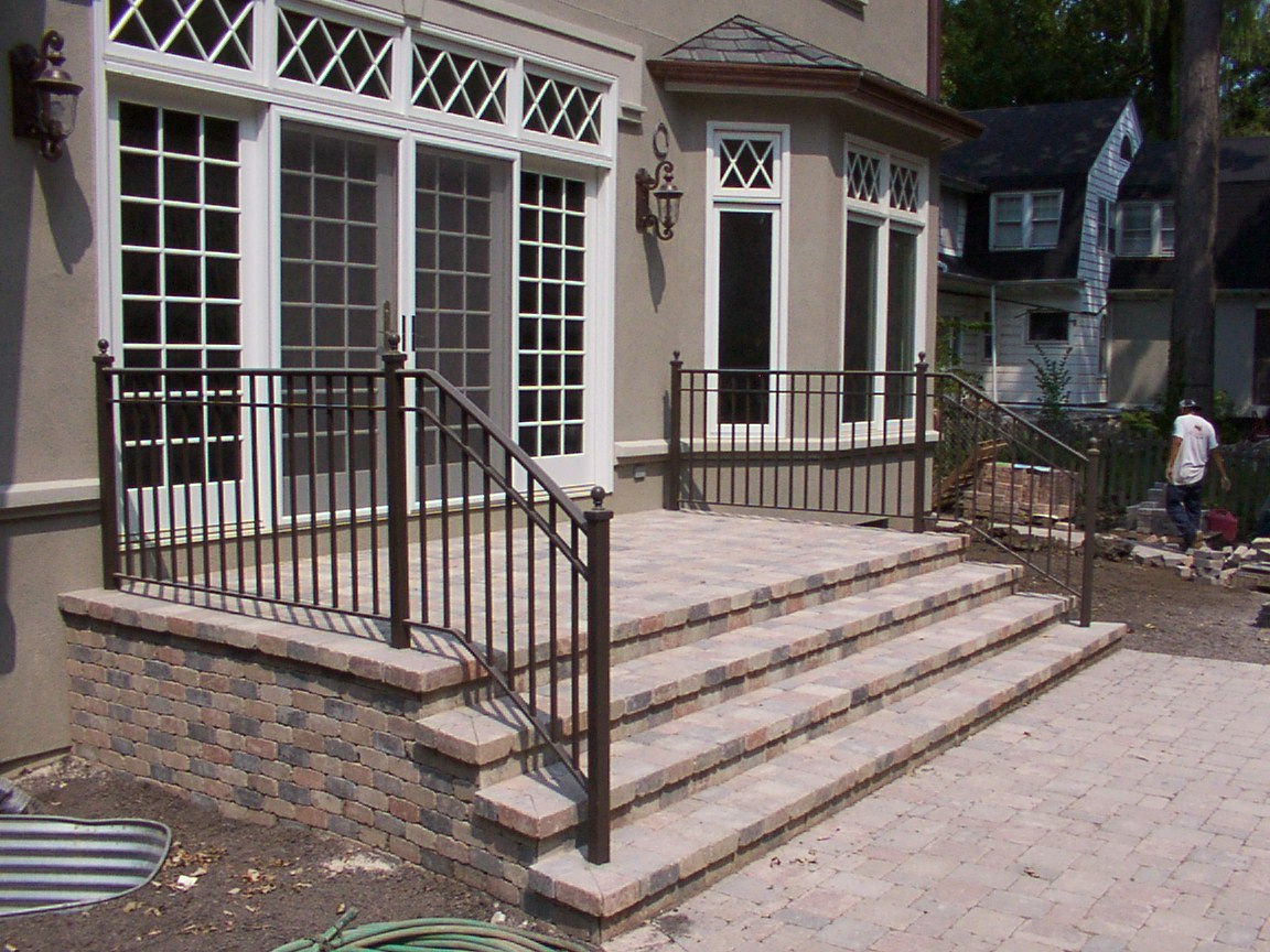 Image of: Front Porch Handrails Material