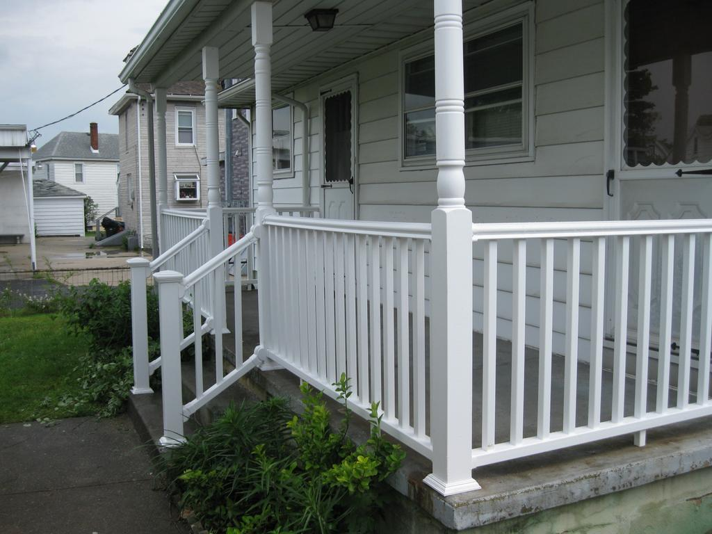 Image of: Front Porch Handrails Type
