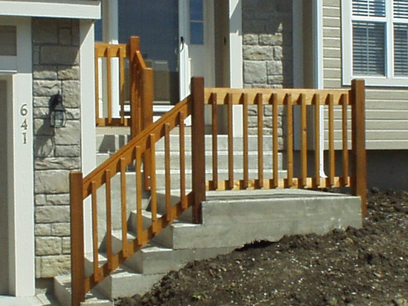 Image of: Front Porch Handrails Wooden