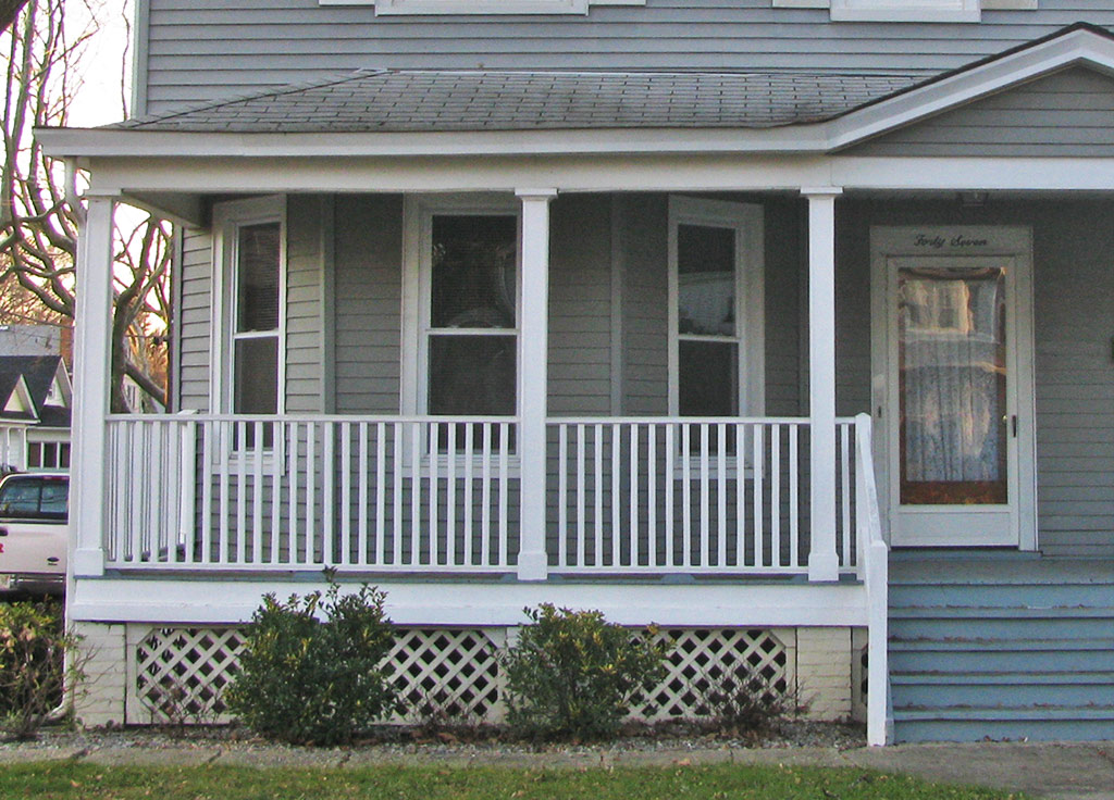Image of: Front Porch Handrails