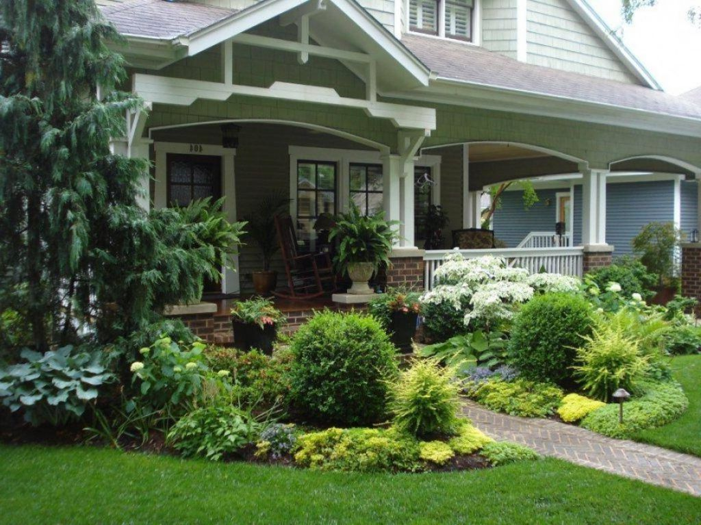 Image of: Front Porch Landscaping Ideas Area
