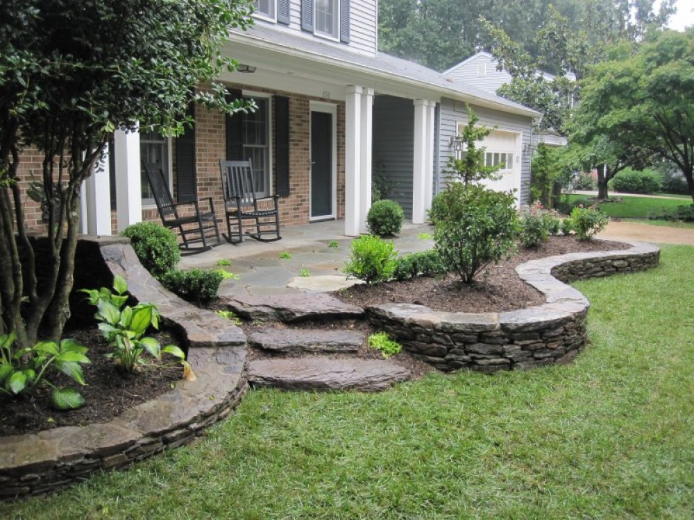 Image of: Front Porch Landscaping Ideas Home