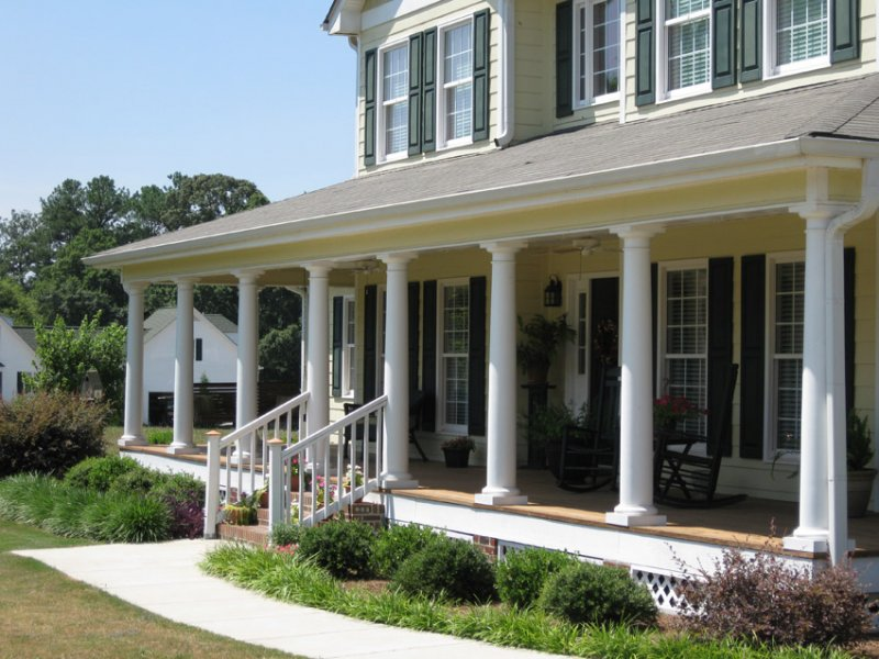 Image of: Front Porch Pillars Coloumn