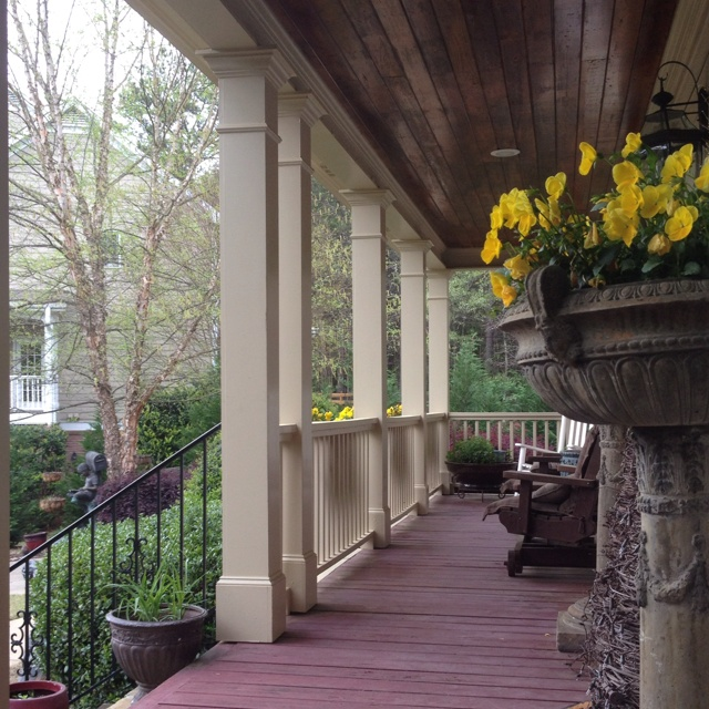 Image of: Front Porch Pillars Flower