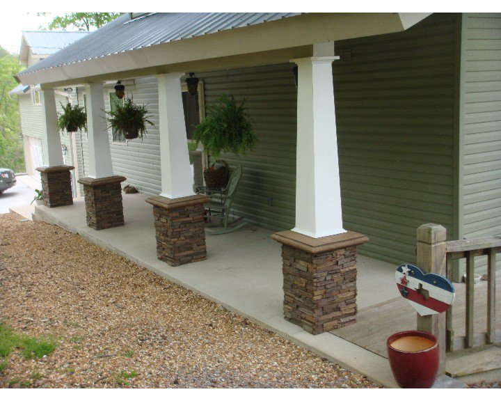 Image of: Front Porch Pillars Photos