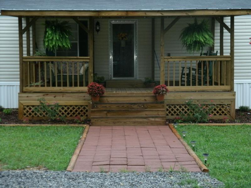 Image of: Front Porch Plans Rustic