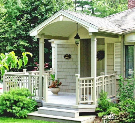 Image of: Front Porch Plans Small