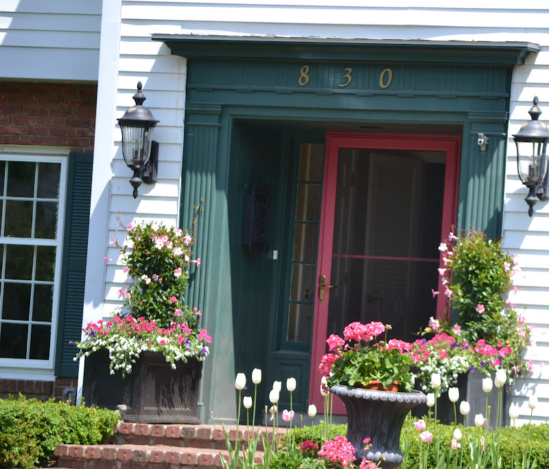Image of: Front Porch Planters Summer