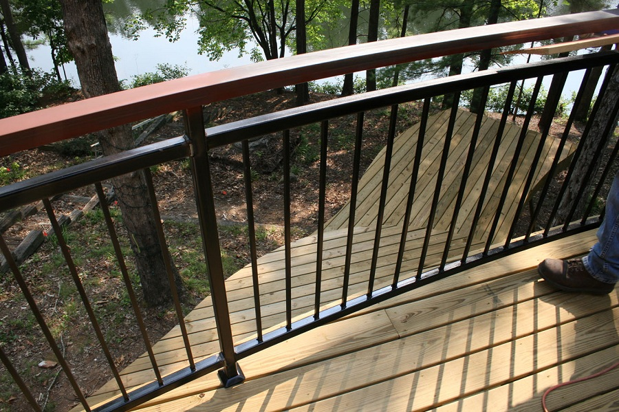 Image of: Front Porch Railing Kit Style