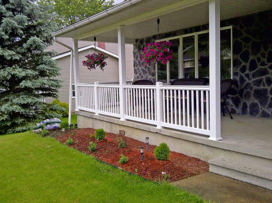 Image of: Front Porch Railings Ideas