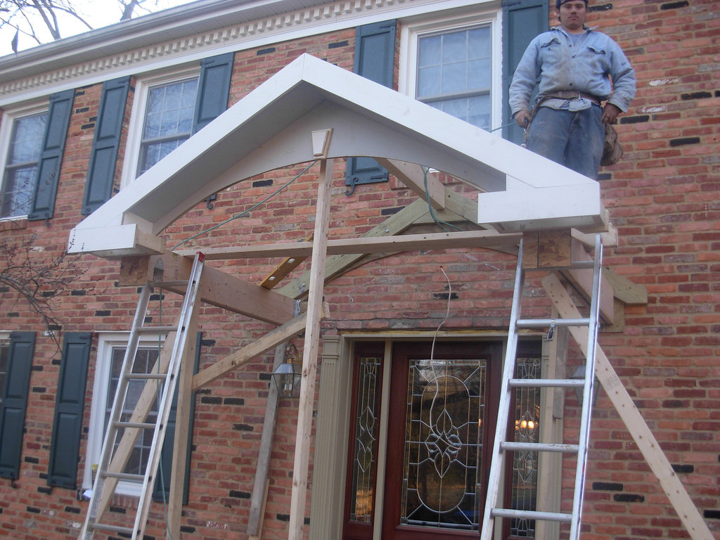 Image of: Front Porch Roof Framing