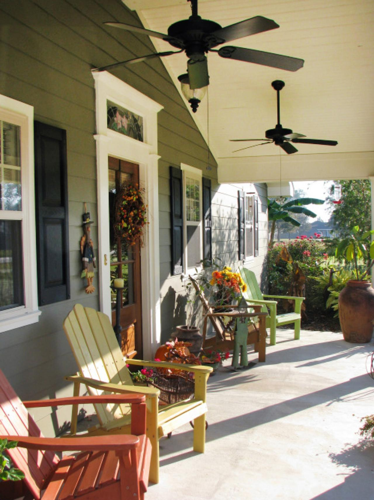 Image of: Front Porch Seating Paint