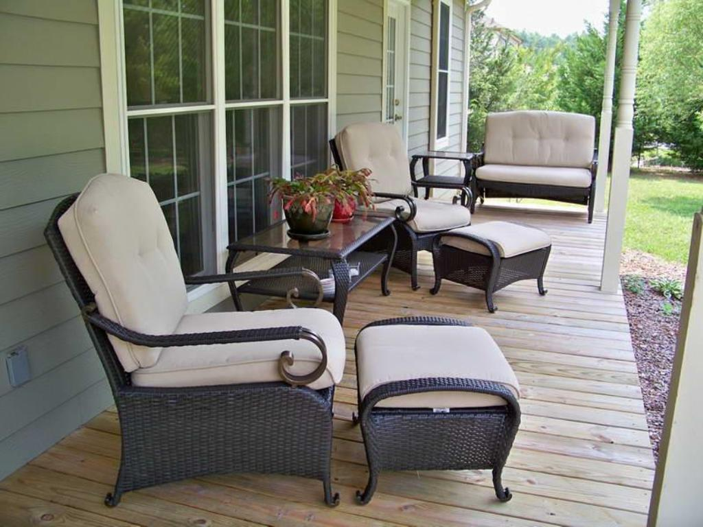 Image of: Front Porch Seating Rattan
