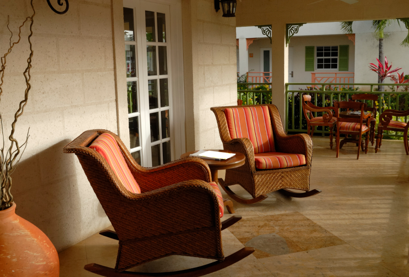 Image of: Front Porch Seating Type