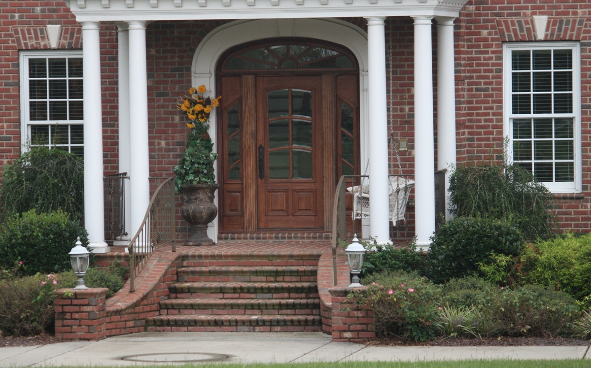 Image of: Front Porch Steps Brick