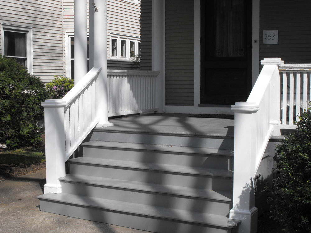 Image of: Front Porch Steps Colors