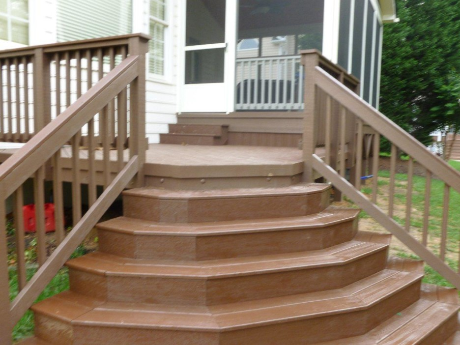Image of: Front Porch Steps Shapes
