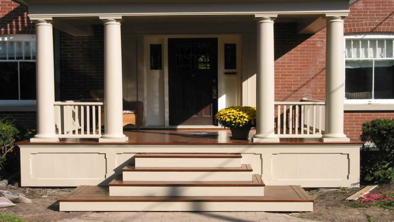 Image of: Front Porch Steps And Rails