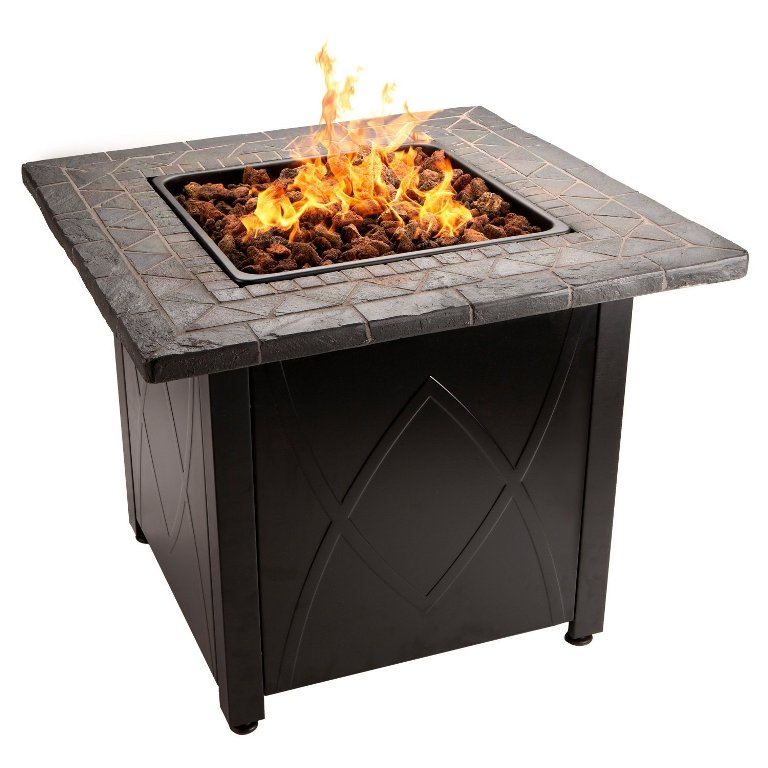 Image of: Gas Fire Pit Covered Patio
