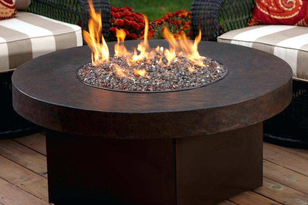 Image of: Gas Fire Pit Patio Furniture