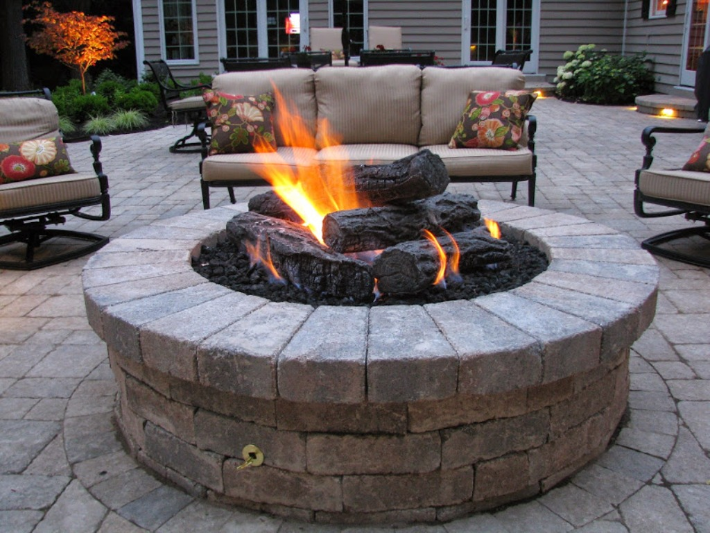 Image of: Gas Fire Pits For Outside