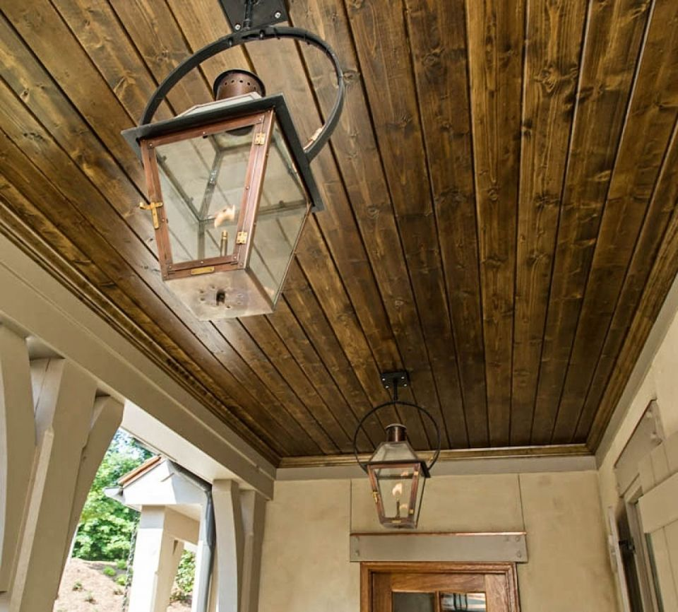 Image of: Gas Porch Light Ceiling