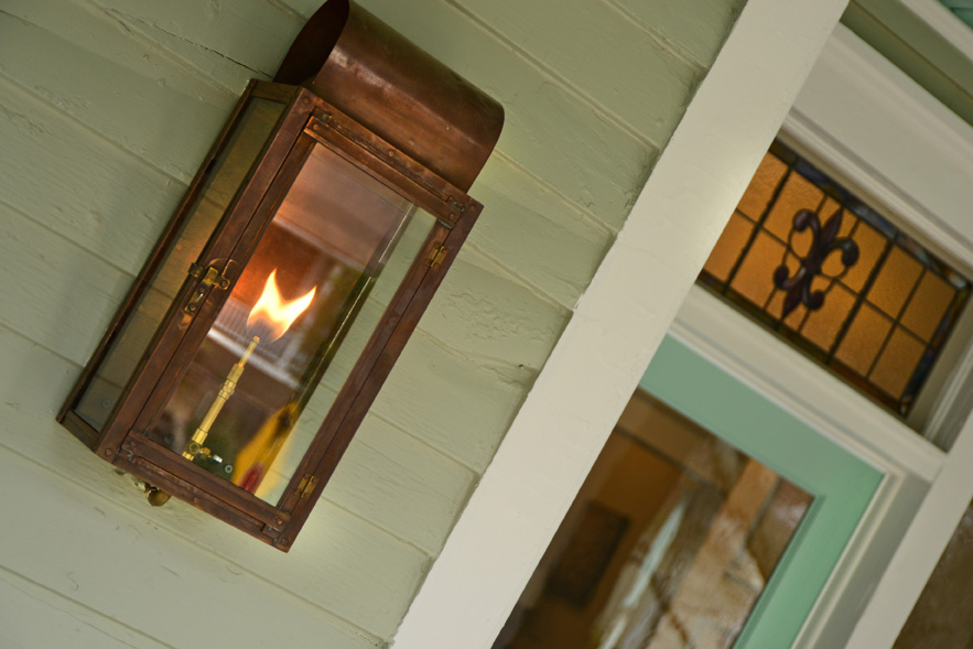 Image of: Gas Porch Light Latern