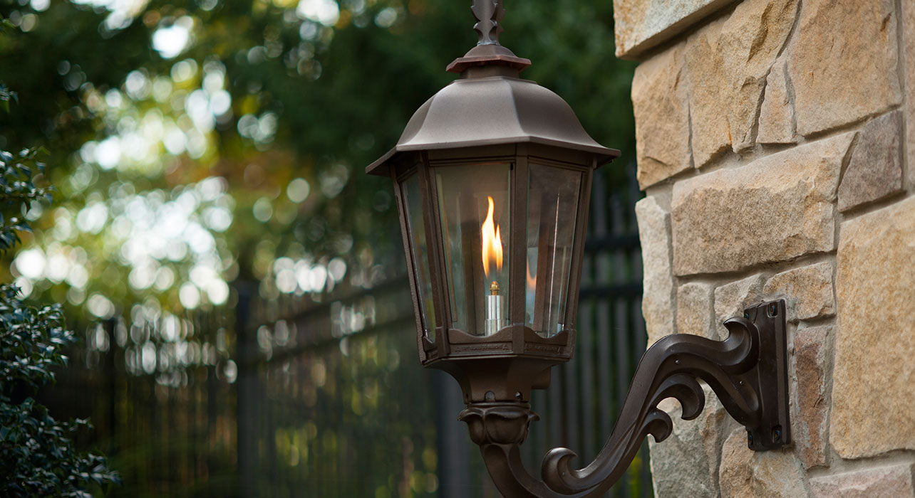 Image of: Gas Porch Light Outdoor