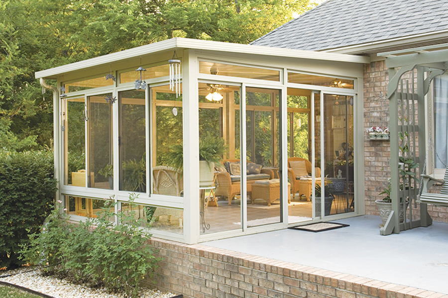 Image of: Glass Wall Three Season Porch