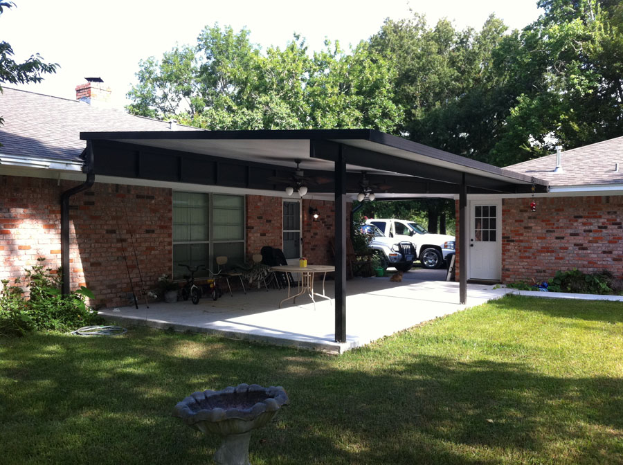 Image of: Good Aluminum Porch Roof