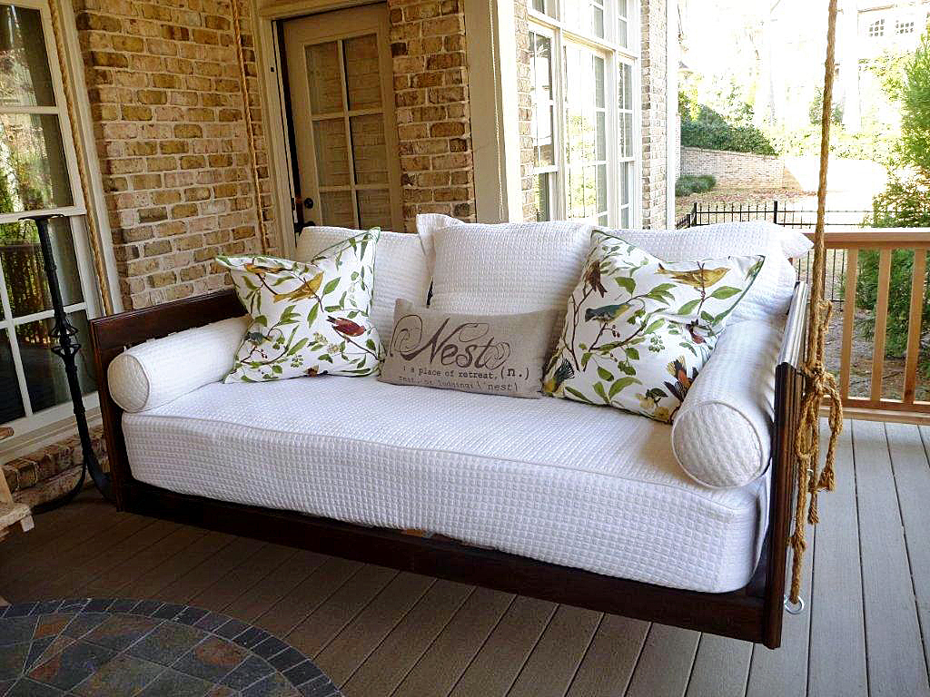 Image of: Good Bed Porch Swing