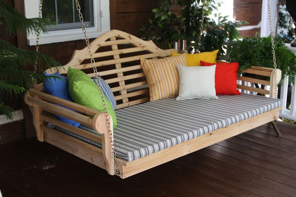 Image of: Good Composite Porch Swing