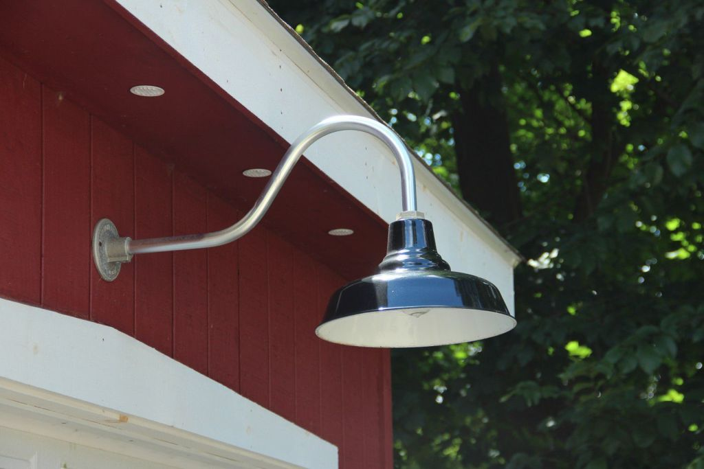Image of: Gooseneck Barn Light Ebay