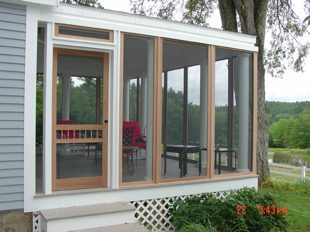 Image of: Great Glassed In Porch